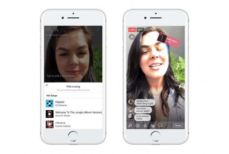 Фото - В Facebook появилась возможность записывать музыкальные ролики с лицензированными песнями»