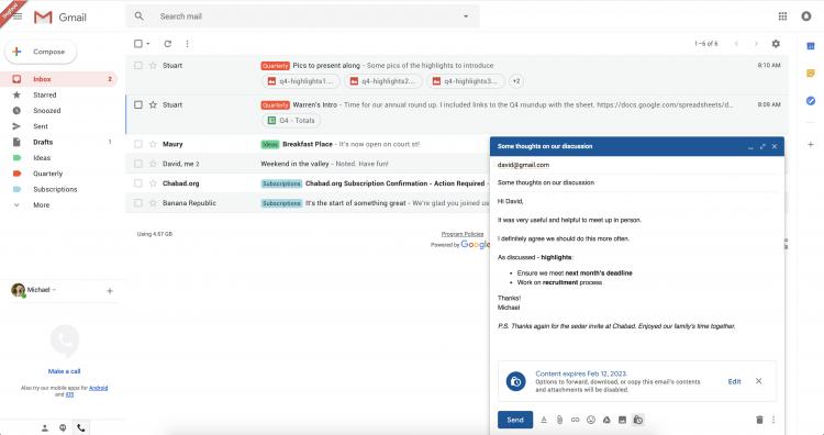 Фото - В обновлённом Gmail могут появиться самоуничтожающиеся письма»