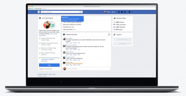 Фото - Facebook запустила страницу с игровыми стримами и будет помогать авторам-новичкам»